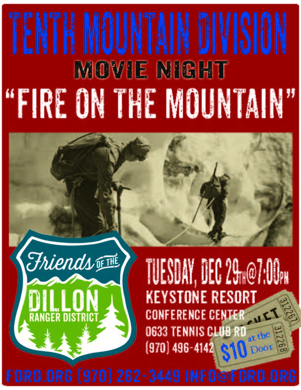 tenth mountain division movie night fire on the mountain