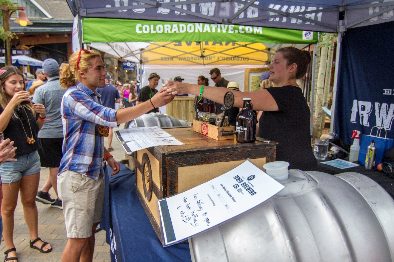 beer tasting at beer and bluegrass festival in keystone co