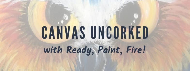 Canvas Uncorked Text Over A Painting Of An Owl's Face