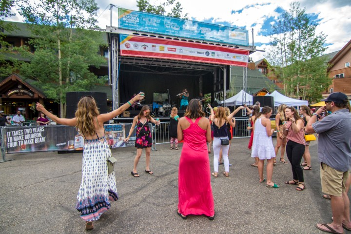Dancing to jazz music and drinking wine at Keystone Wine and Jazz Festival