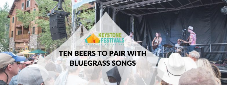 Bluegrass Band Playing On The Keystone Stage At The Bluegrass And Beer Festival