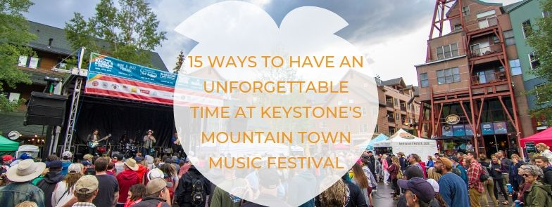 Stage And Crowd At Mountain Town Music Festival With Blog Title Header