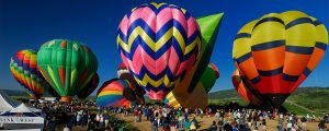 balloons at the steamboat hot air balloon festival